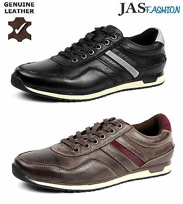 b9923a7fb652 Mens Lace Up Trainers Casual Leather Comfort Sport Italian Fashion Smart  Shoes
