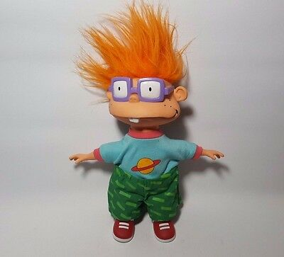 Chuckie Finster Rugrats 1993 Nikelodeon Soft Body & Vinyl Toy Plush 10""