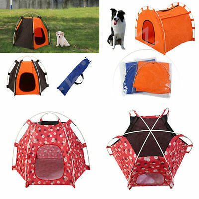 Waterproof Portable Folding Pet Tent Dogs Cats Bed Puppy House Indoor Outdoor