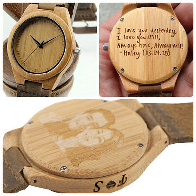 wooden watch, personalized wood watch, engraved, mens watch FAST DELIVERY