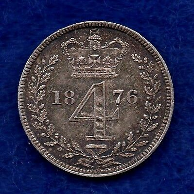 Great Britain, Victoria, 1876 Maundy Fourpence (Ref. c4244)