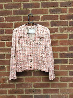Vintage Jaeger Boucle Wool Blend Jacket 1980's Chic On Trend Made In Britain 10