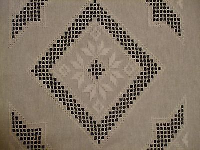 """Beautiful Vintage  Cutting Hand-Embroidered Linen Hardanger15.2"""""""