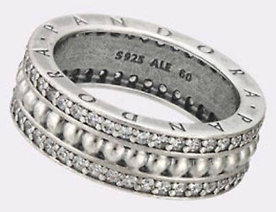 Brand New Genuine Silver Sparkling Chic Forever PANDORA Ring 190962CZ RRP £90