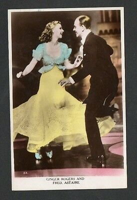 Fred Astaire/Ginger Rogers Valentines Art Photo Series Film Star Postcard No. 52