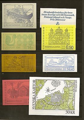 Sweden Booklets 1970-92 Mainly 1980's Issues. (65)