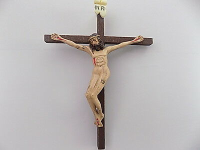 Crucifix Jesus Christ on Cross Wooden 15.5cm x11.5cm Comes In A Gift Box