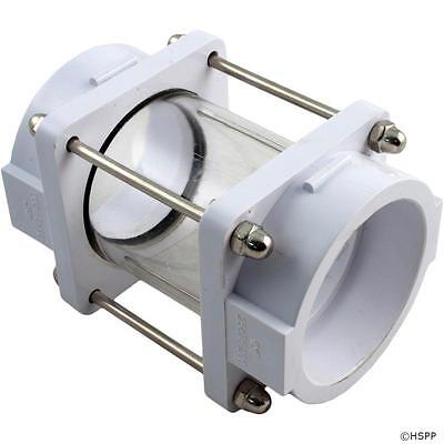"Pool Pump or Filter In-Line Sight Glass 2"" Slip PVC SP1074S 25625-200"