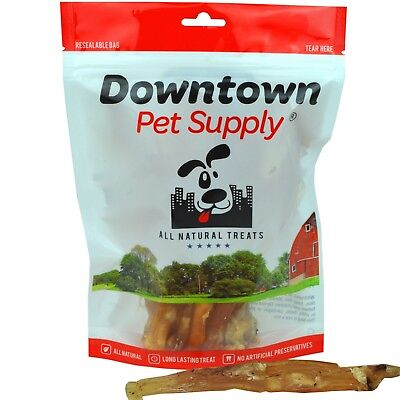 "All Natural Beef Tendons Made in USA Healthy Dog Treats Free Range Beef 8"" - 10"""