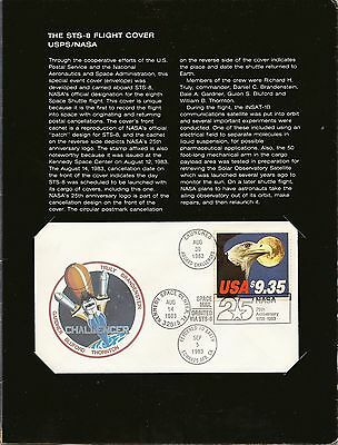 Space 1983 Challenger Sts-8 Nasa 25Th Anniv Flight Cover Bearing $9.35 Eagle