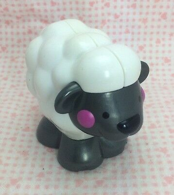 Fisher Price Amazing Animals Small Lamb Squeaks Squeak Sheep Baby Toy