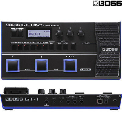 BOSS GT-1 Portable Guitar Effects Processor Pedal Footswitch l Authorized Dealer