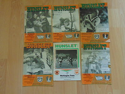 Job Lot Of 6 Hunslet Rlfc Programmes - 1992-94.