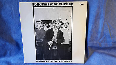 Folk Music of Turkey, Wolf Dietrich, UK 1st Press, near mint LP