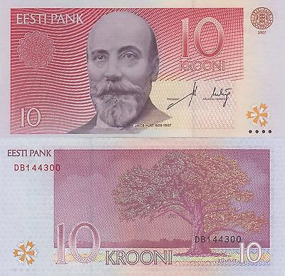 Estonia 10 Kroon (2007) - Linguist/Famous Tree/p86b UNC