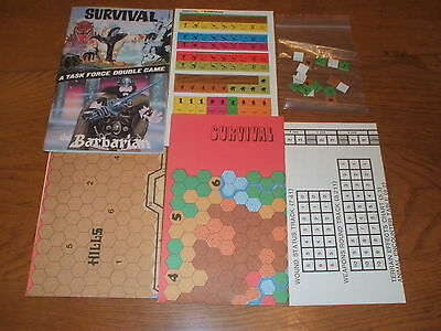 Wargame Boardgame Survival The Barbarian A Task Force Double Game 1979