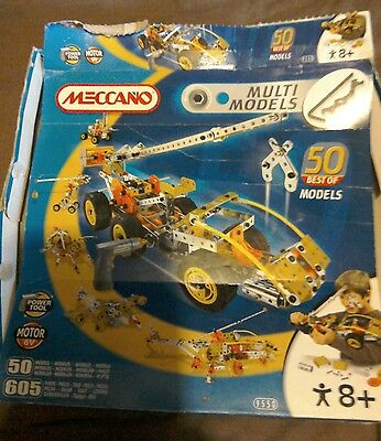 Meccano multi model 9550 sold as seen!