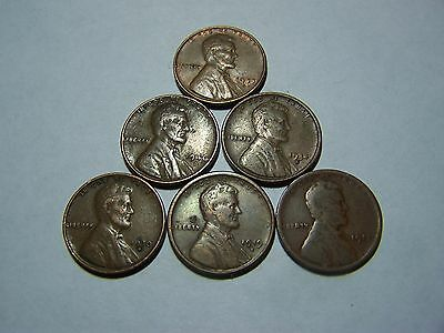 6-Lincoln Wheats 1911 1919-S 1930-D 1934-D 1946-D 1953-S