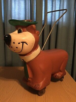 Vintage Buddy L Yogi Bear Child's Riding Toy Complete With Hat