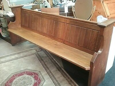 Vintage Pine Church 7 Foot Pew Bench