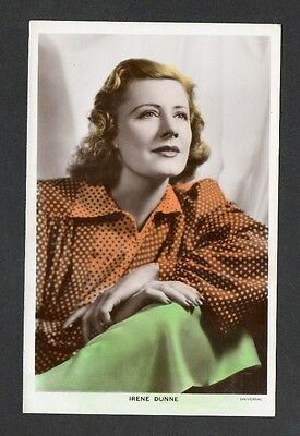Irene Dunne Picturegoer Colourgraph Series Film Star Actress Postcard No. C 283a