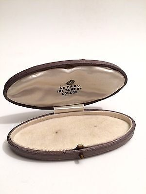 Antique Edwardian ASPREY Leather Brooch/Pin/Ring Box Jewellery Display Case
