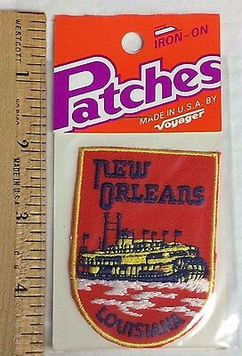 NIP New Orleans Steamboat Riverboat Louisiana Souvenir Patch Badge by Voyager