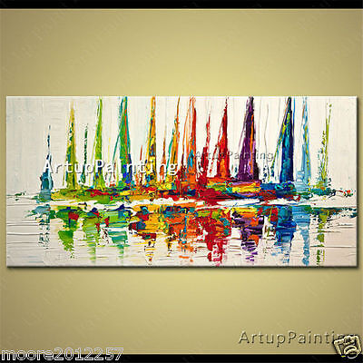 Modern large Hand-painted Abstract Art Oil Painting wall Art Canvas NO framed