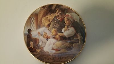Knowles 1991 GOLDILOCKS AND THE THREE BEARS Classic Fairy Tales Plate