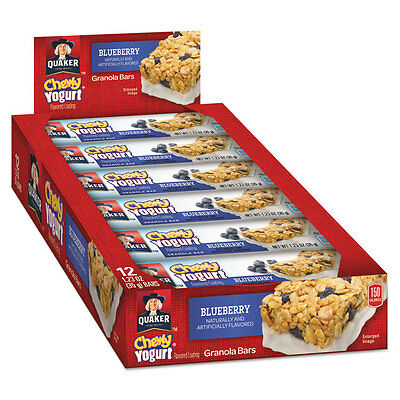 Chewy Yogurt Granola Bars, 1.23 oz Bar, Blueberry, 12/Box, 8 Box/Carton