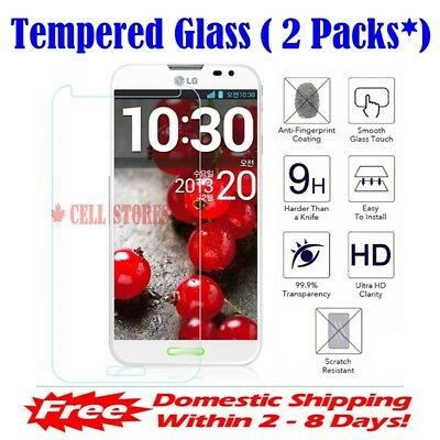 (2 Packs) Premium Tempered Glass Screen Protector for LG X Power 2 & 3