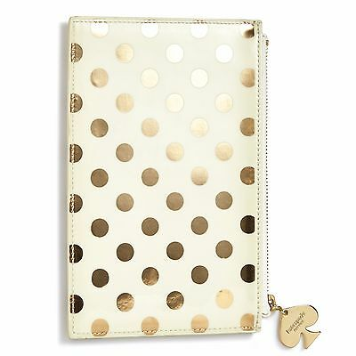 """KATE SPADE - Pencil Pouch -  Set - """"Gold Dot"""" - Six Pieces Included!"""