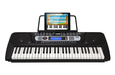 RockJam 54-Key Portable Electronic Keyboard with Interactive LCD Screen & Includ