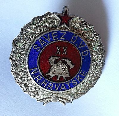 Firefigfters Badge Medal - CROATIA,YUGOSLAVIA,20 Years....