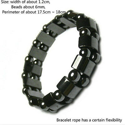 Weight Loss Round Black Stone Bracelet Health Care Magnetic Therapy Bracelet ee