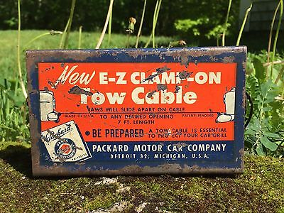 Vintage Packard Motor Car Co. Gas Service Station Dealer Clamp On Tow Cable