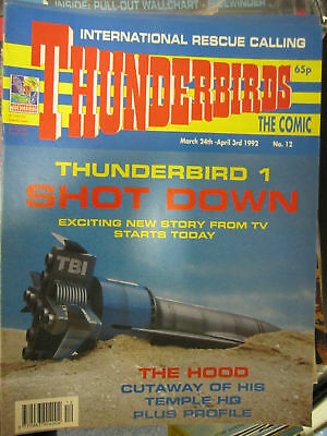 Thunderbirds Fleetway # 12 Gerry Anderson Stingray UFO The Hoods Temple pullout