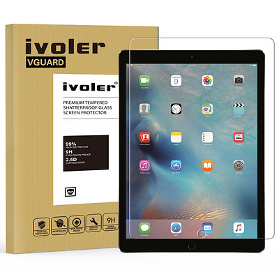 iVoler Apple iPad Pro 12.9'' inch Screen Protector with Ultra Clear 9H Hardness