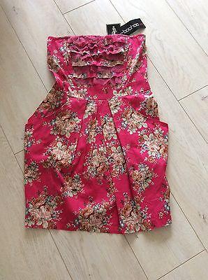 Boohoo Beautiful Floral Mini Dress Size 12 /38 New+Tags