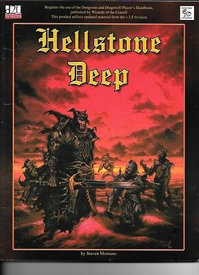 D & D  Hellstone Deep.     Paperback in vg condition