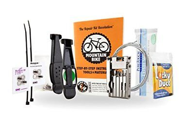 Mountain Bike Repair Kit with Multitool, Tire Levers, Chain Links & More