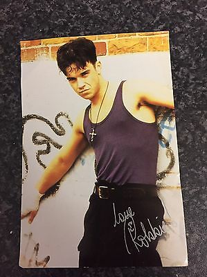 Robbie Williams Signed Colour Post Card From 1992