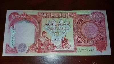 25000 Iraqi Dinar Note Iraq Money Authentic