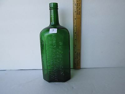 Antique Baltimore MD Green Eight Sided Medicine Bottle