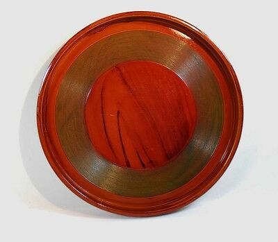 Vintage Lacquered Wooden Serving Tray - Possibly Japanese