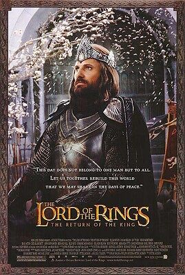 """Lord Of The Rings Aragorn Coronation  Poster  - 27"""" X 40"""" - 2003 / New & Rolled"""