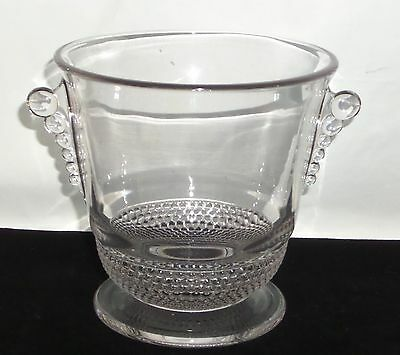 "Duncan & Miller TEAR DROP CRYSTAL *5 3/4"" ICE BUCKET*"