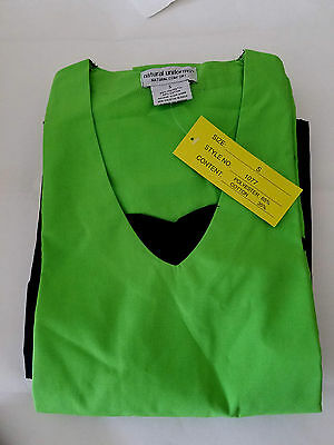 Natural Uniforms Women's Contrast Jersey Scrub Set Green and Black (Small)