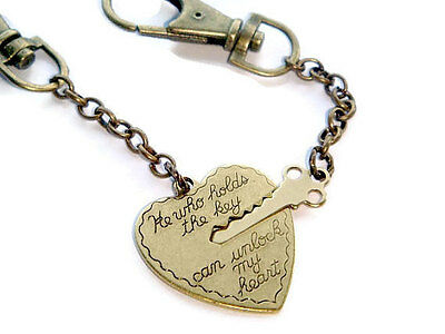 Key To My Heart Couples Set of Keychains His & Hers Valentines Gift Keyring