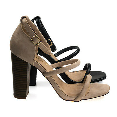 31236ce007ec Anson3 Chunky Block Heel Dress Sandal w Faux Stacked Wood   Padded Insole